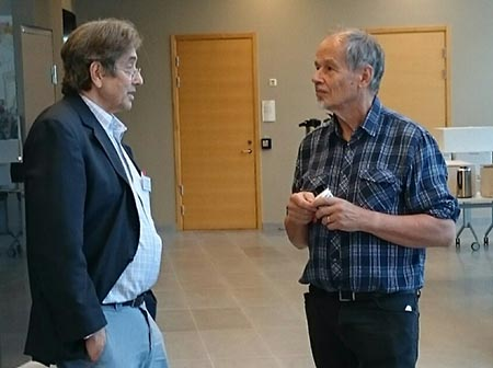 Helge Malmberg together with Professor Stephen Grossberg from Boston University