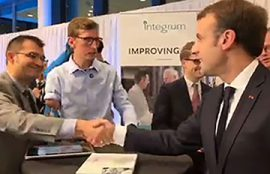Bionic limbs project presented to Emmanuel Macron and the Swedish prime minister