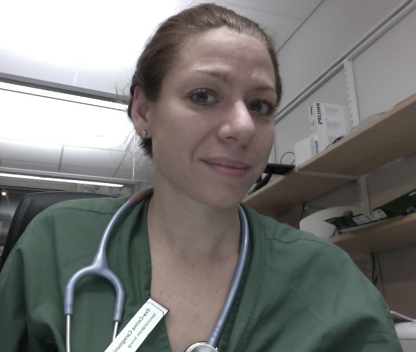 A picture of trauma surgeon Eva-Corina Caragounis