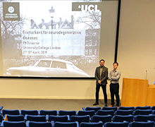 """Inaugural UCL """"Biomarkers for neurodegenerative diseases"""" PhD course in London highly appreciated"""