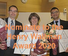 Time to nominate to the Henry Wallman Award 2020